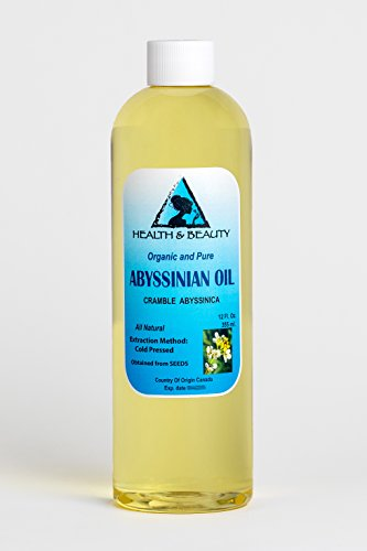 Abyssinian / Crambe Seed Oil Organic Cold Pressed Natural 100% Pure 12 Oz