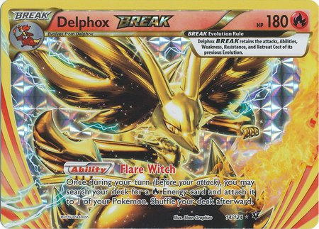 Pokemon - Delphox Break (14/124) - Xy Fates Collide - Holo