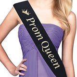 Adbetty Prom King Sash &Amp; Prom Queen Sash Kit - School Party Graduation Party Decorations