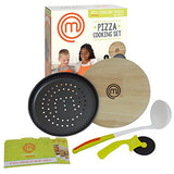 Masterchef Junior Pizza Cooking Set - 5 Pc Kit Includes Real Cookware For Kids And Recipes