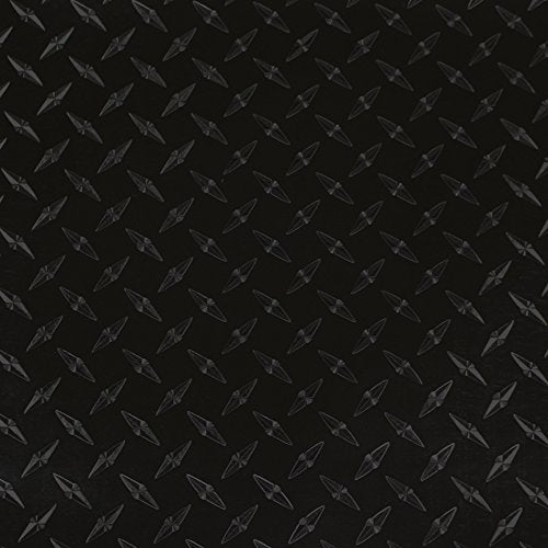 Lvg Intercal Specialty Films - 12  X 4Ft - Black Diamond Plate - Peel And Stick Cutting Film With Removable Backing Paper - 74 Variations To Choose From