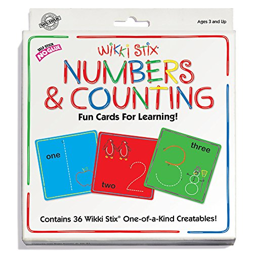 Wikki Stix Numbers And Counting Fun Cards For Learning