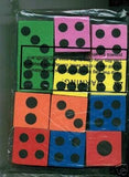 ~ 12 ~ Foam Dice ~ 1.5 Inch ~ Games Math Teaching ~ New