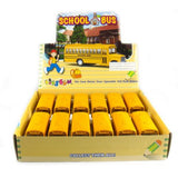 12 Pcs In Box: 5 Die Cast Classic Long Nose School Bus, Pull Back Action (Yellow)