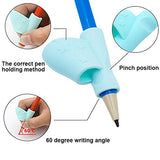 Cocode Pencil Grips Pencil Holder Silicone Ergonomic Pen Grippers Writing Aid Grip Posture Correction Tool For Kids Student Toddlers Preschoolers Kindergarten And Adults(3Pcs)