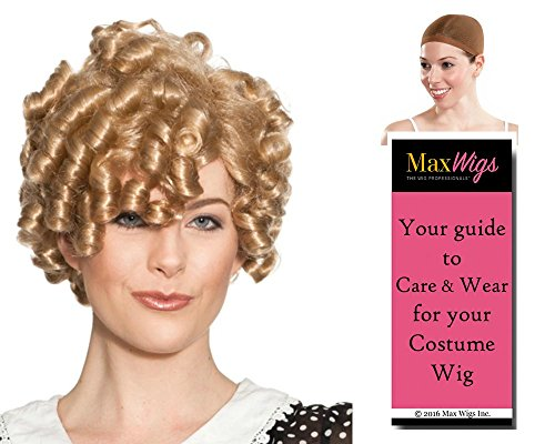Dimples Shirley Temple Color Blonde - Enigma Wigs Women'S Tight Curly Top Child Movie Star Bundle With Wig Cap, Maxwigs Costume Wig Care Guide