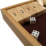 We Games Deluxe Wood Shut The Box Game - 12 Numbers