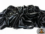 1 X Spandex Metallic Black Fabric /60 / Sold By The Yard
