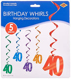 40 Whirls (Asstd Colors)    (5/Pkg)