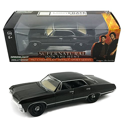 Lootcrate September 2015 Supernatural Dean'S 1967 Chevrolet Impala 1:64 Die Cast Toy Car By Greenlight