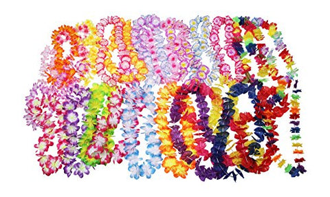 Oojami Jumbo Party Bag ~ Tropical Hawaiian Luau Lei Styles (50 Ct) ~ Party Favors