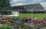 12'X12' (Black) Heavy Duty Mesh Tarp Net Sail Sun Shade Awning And Fence Screen Patio And Canopy Cover