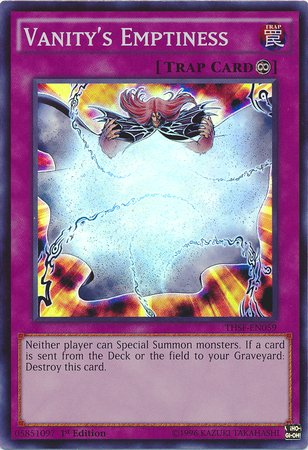 Yu-Gi-Oh! - Vanity'S Emptiness (Thsf-En059) - The Secret Forces - 1St Edition - Super Rare