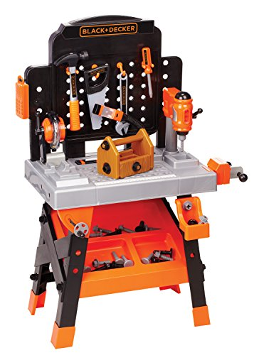 Black + Decker Junior Power Workbench Workshop With Realistic Action Lights &Amp; Sounds - 75 Tools &Amp; Accessories [Amazon Exclusive]