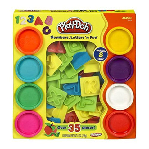 Play-Doh Numbers Letters N Fun Art Multi Kids Toddler Games Play Set Playdough