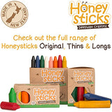 Honeysticks 100% Pure Beeswax Crayons (8 Pack, Thins) Natural, Non Toxic, Safe For Toddlers, Kids And Children, Handmade In New Zealand, For Older Children To Encourage Fine Motor Skills