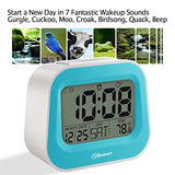 Soobest Electric Alarm Clock With Adjustable Snooze Time, 7 Wakeup Sounds Optional , Time/ Date/ Day Of Week/Temperature Display, Ascending Volume, Plug In Clock With Battery Backup.