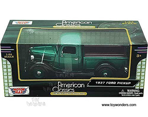 1937 Ford Pickup Green 1:24 Diecast Model Car By Motormax