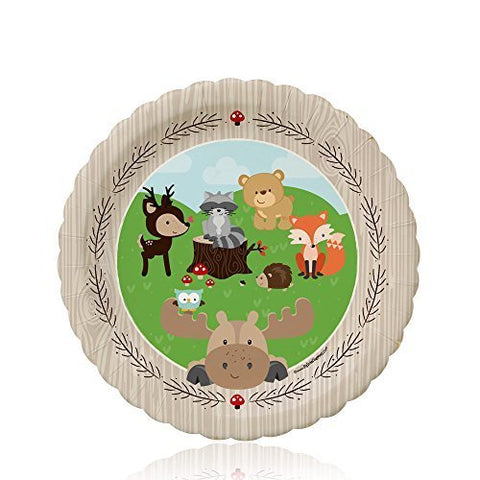 Woodland Creatures - Baby Shower Or Birthday Dessert Plates (8 Count)