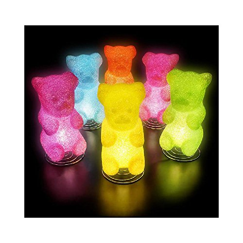 10  Sparkle Gummy Bear Lamp (With Sticky Notes)
