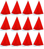 1 Dozen- Economy Santa Hats-Adult Size-One Size Fits All, Style May Vary