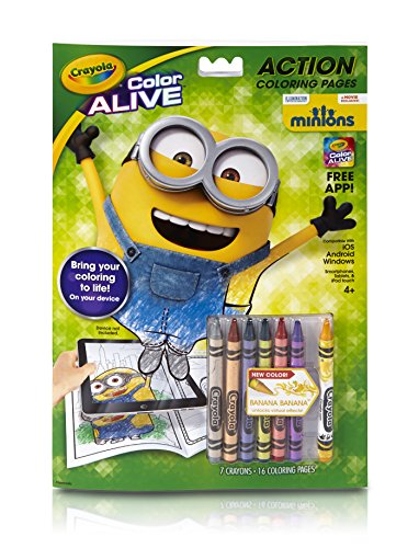 Crayola Color Alive Animated Minions Pages