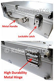 A3 Silver Metal Frame Lockable Storage Carry Case For Trading Cards Ultra Pro Protector Sleeve Deck Box Mtg Magic The Gathering Ygo Yugioh Pokemon Vanguard Card Games Board Cube Dominion Arkham Horror