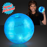 4  Big Blue Bounce Ball With Flashing Leds