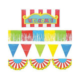 Super Fun Outdoor Carnival Giant Decorating Kit Birthday Party Game, Red/Yellow/Blue/Kiwi