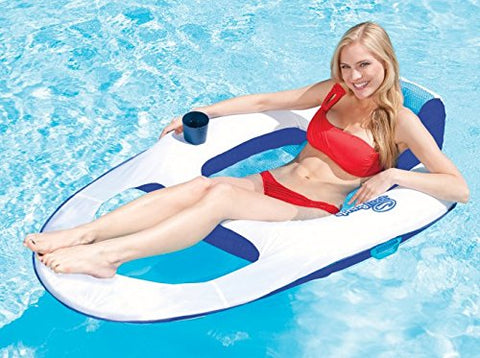 Swimways Spring Float Recliner Floating Pool Lounge Chair  | 13018