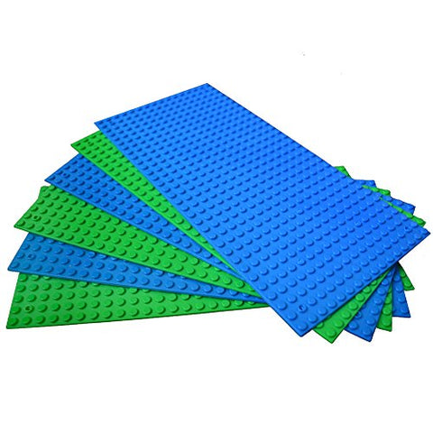 Variety Baseplate Brick Building For Lego Base Plates 5X10 Brick Block Blue And Green Color Minifigure Building Baseplates Baseboard  Fit With All Major Brick Sets
