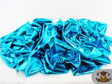 1 X Spandex Metallic Teal Fabric /60 / Sold By The Yard