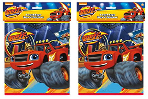 Blaze And The Monster Machines Goodie Loot Party Favor Bags (16 Count)