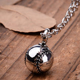 Basketball Cremation Ashes Urn Necklace Memorial Pendant Stainless Steel Waterproof Jewelry (B)