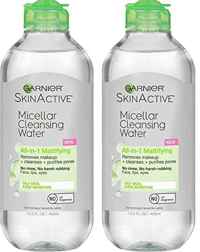 Garnier Skin Skinactive Micellar Cleansing Water All-In-1 Cleanser And Makeup Remover, Oil (13.5 Ounce) Nkqkdp,