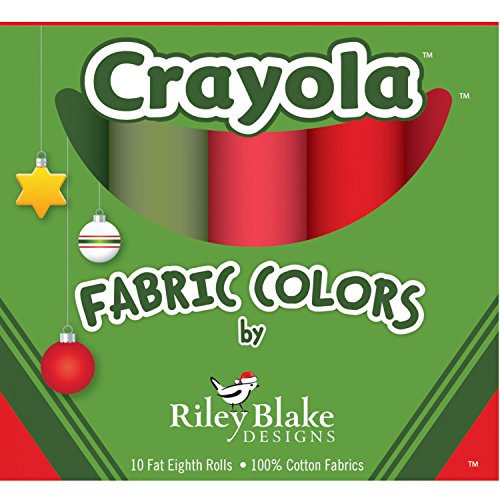 Riley Blake Kit To Make 18  X 54  Christmas Table Runner W/ Crayola Fabric Colors (Downloadable Free Pattern)