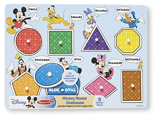 Melissa & Doug Disney Mickey Mouse Clubhouse Shapes And
