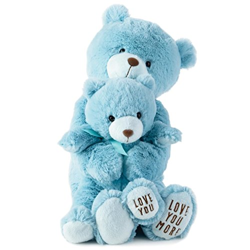 Hallmark Bby4483 2 Piece Blue Bear Plush