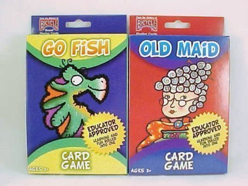 Bicycle Kids Card Games Go Fish And Old Maid Children Oversize Decks