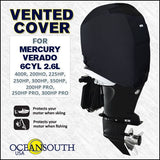 Oceansouth Custom Fit Vented Outboard Cover For Mercury Verado 6-Cylinder 2.6L.