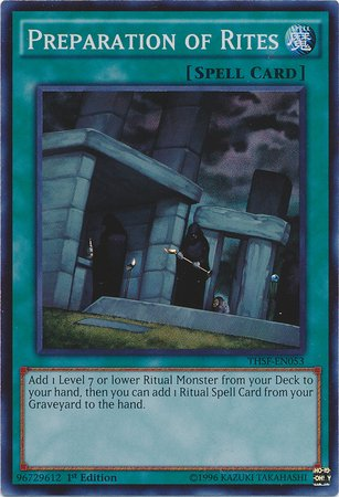 Yu-Gi-Oh! - Preparation Of Rites (Thsf-En053) - The Secret Forces - 1St Edition - Super Rare