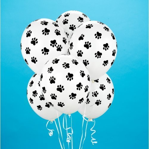 Paw Print Balloons (6 Count) Child