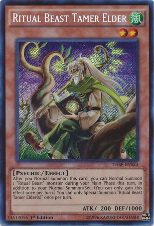 Yu-Gi-Oh! - Ritual Beast Tamer Elder (Thsf-En023) - The Secret Forces - 1St Edition - Secret Rare