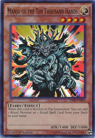 Yu-Gi-Oh! - Manju Of The Ten Thousand Hands (Thsf-En033) - The Secret  Forces - 1St Edition - Super Rare