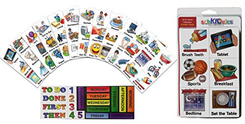 Schkidules Visual Schedules Activity Magnets Combo Pack: 72 Pc Home Collection Plus 19 Headings Magnets (2Nd Ed)