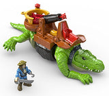 Fisher-Price Imaginext Walking Croc &Amp; Pirate Hook