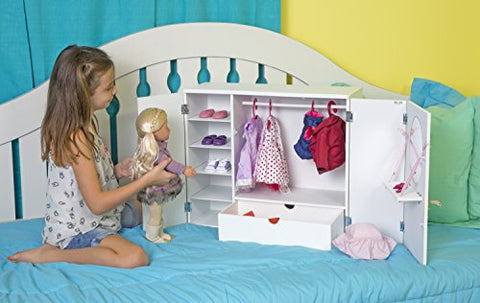 Our Generation Dolls Wooden Wardrobe Doll, 18