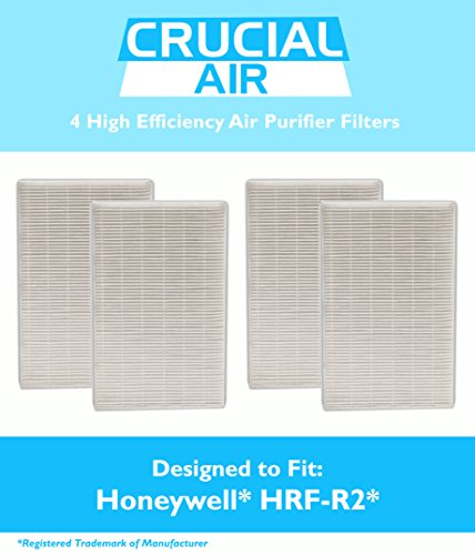 4 High Quality Honeywell Hrf-R2 Air Purifier Filters, Fit Hpa-090, Hpa-100, Hpa200 And Hpa300 Series, By Think Crucial
