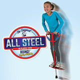 Large Jumparoo Boing! Ii Pogo Stick By Air Kicks; For Adults And Kids 90 - 160 Lbs., Assorted Colors Red Or Blue
