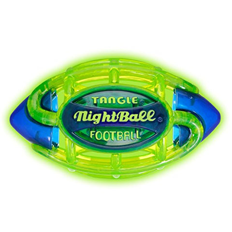 Tangle Nightball Glow In The Dark Light Up Led Football - Large (Green With Blue)